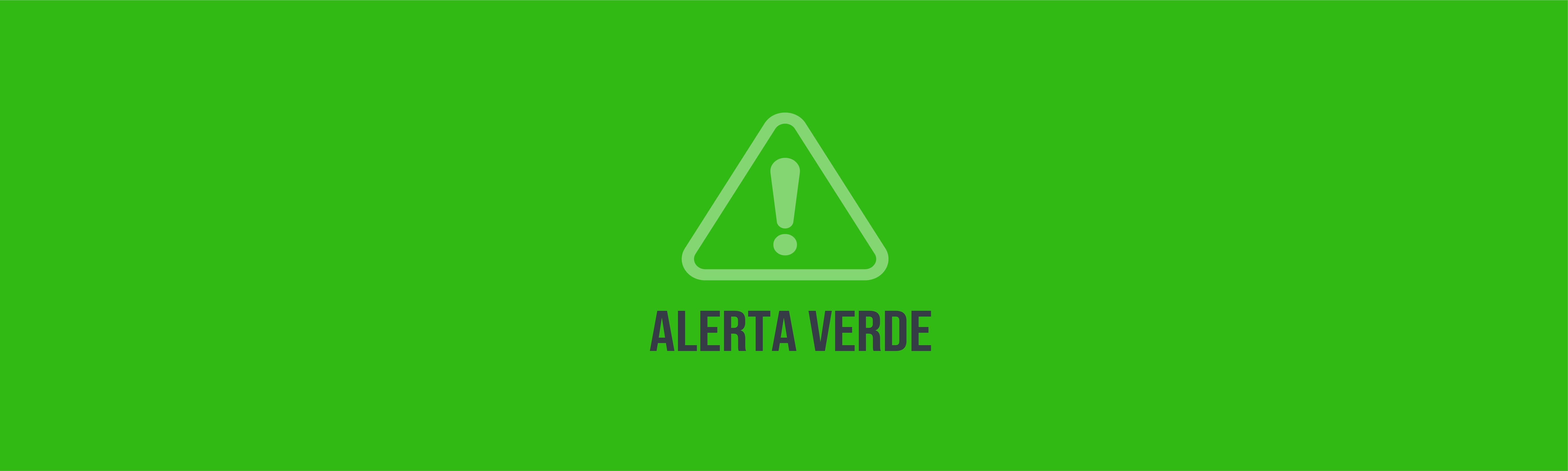 Alerta Verde a nivel nacional          12/JUNIO/2020