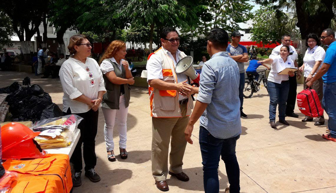 Dirección General de Protección Civil y Unión Europea fortalecen la resiliencia en Zacatecoluca juramentando Comisiones Comunales  11/JUNIO/2017