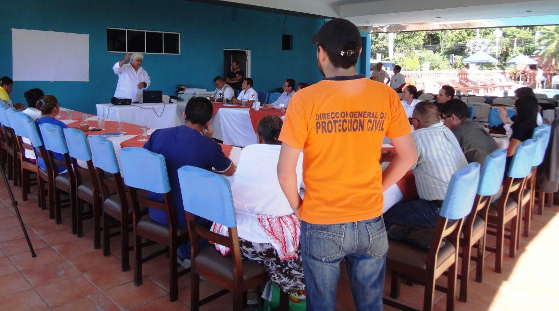 Dirección General de Protección Civil contribuye a construir Comunidades Resilientes y Sistemas de Alerta Temprana en Municipio de La Libertad, 08/Nov./2017