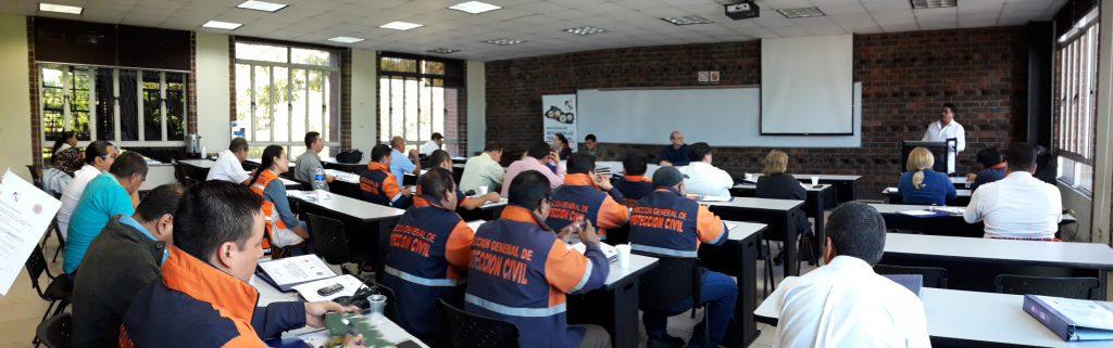 Jefaturas Dirección General Protección Civil fortalecen su capacidad en Gestión Integral Riesgo de Desastres   19/ENERO/2018