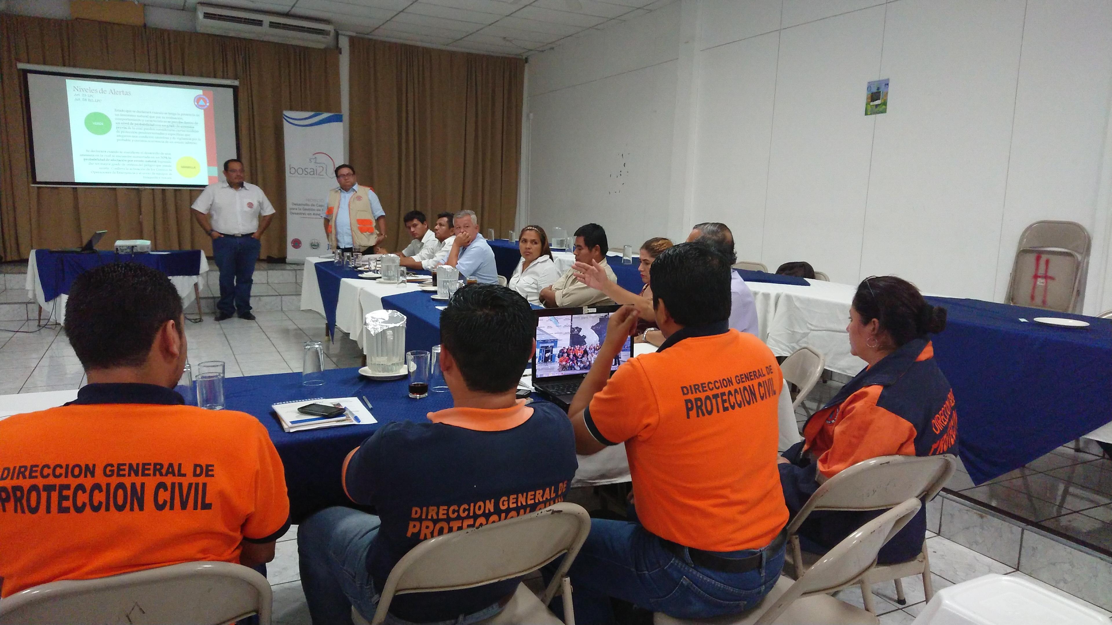 Fortalecimiento de capacidades en materia de Protección Civil de Comisiones Municipales de Protección Civil del Departamento de Sonsonate      15/JUNIO/2018