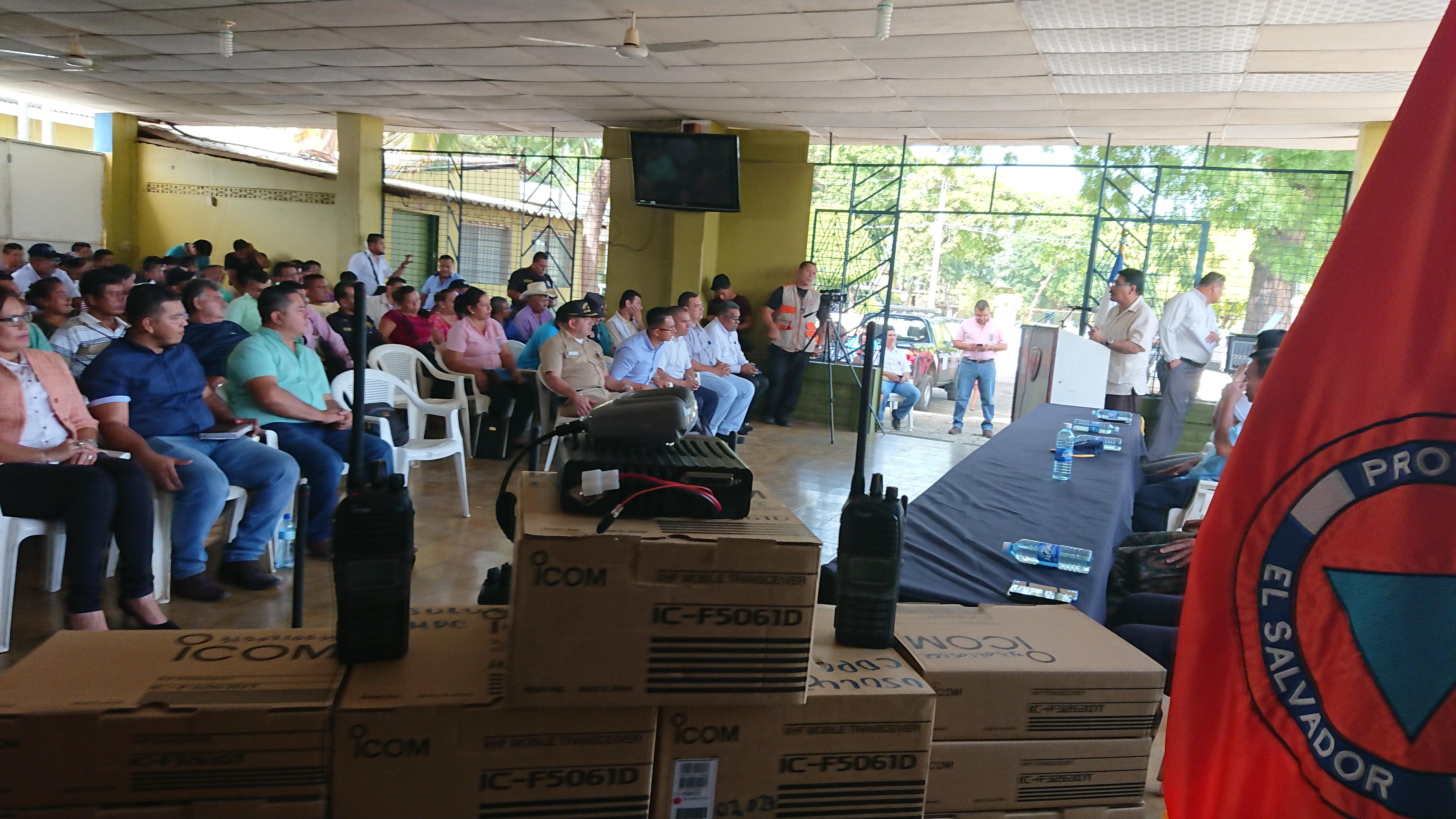 Fortalecimiento Sistema Alerta Temprana de Comisiones Municipales y Comunales de Protección Civil en costa de Usulután ante amenaza de tsunami   29/JUNIO/2018