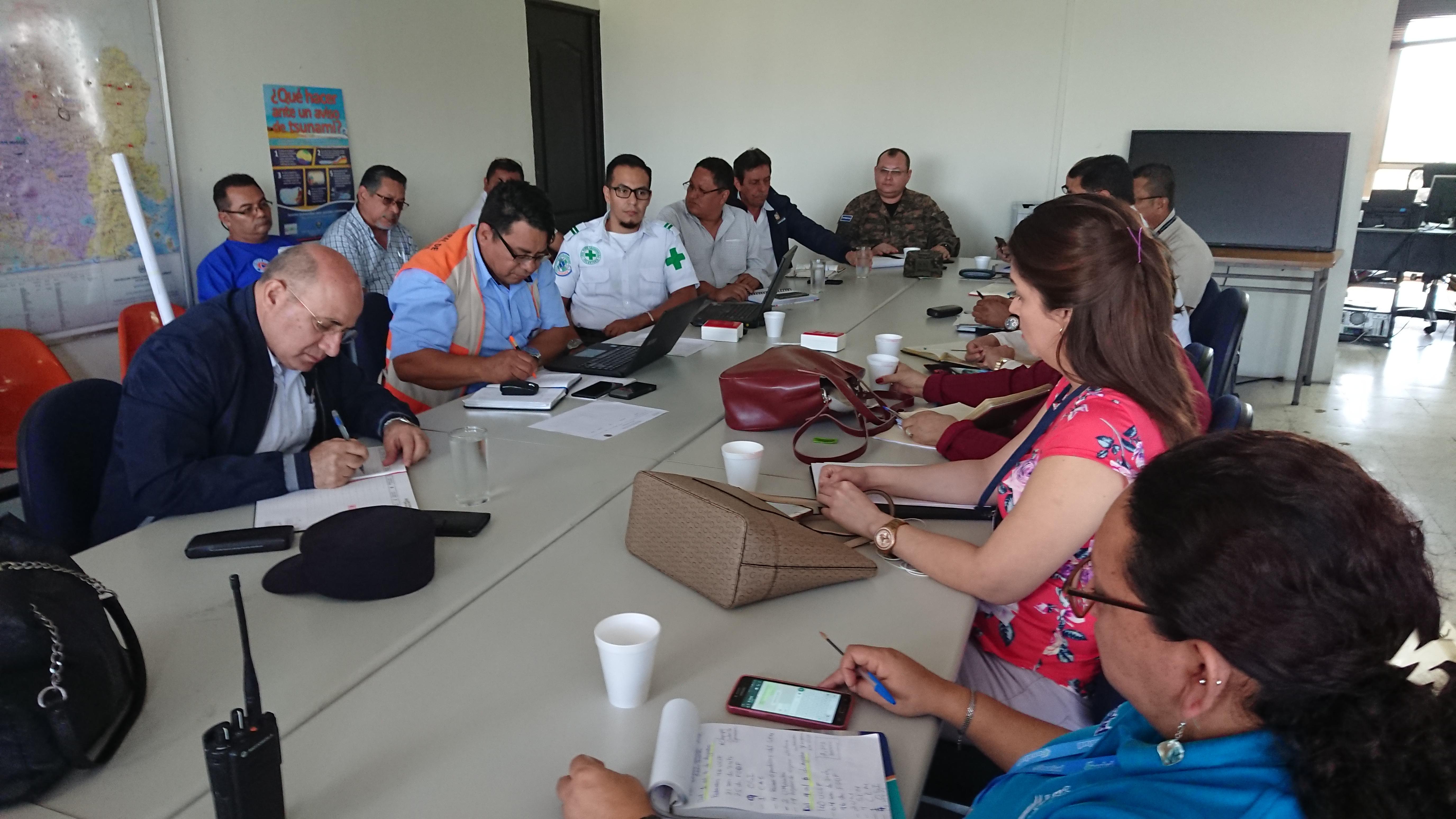 Dirección General de Protección Civil e instituciones del Sistema Nacional de Protección Civil dan seguimiento a preparativos Plan Divino Salvador 2018   04/JULIO/2018